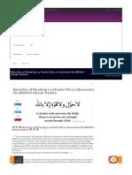 Benefits of Reading La Hawla Wa La Quwwata illa BillAhil Aliyyil Azeem – Quran Classes.pdf