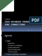 Antony - Java Database programming JDBC connections