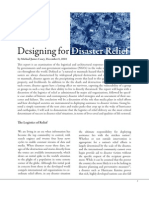 Designing for Disaster Relief