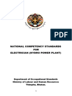Electrician hydro Draft finalized