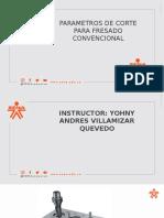 PARAMETROS DE CORTE FRESADO