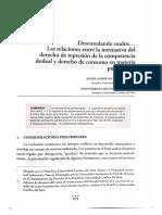 Desenredando nudos... Las relaciones entre la normativa del derecho de represión de la competencia desleal y derecho de consumo en materia publicitaria