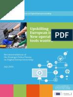 Report on upskilling European industry