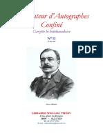 Pierre MICHEL,  « Quatre lettres d'Octave Mirbeau à Ernest Vaughan »