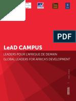 Lead Campus Leaders Pour l Afrique de Demain Global Leaders for Africa s Development Certificat _ Certificate 5 Mois _ Months