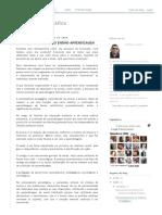 Pedagogia e Didática_ AVALIAÇÃO DO PROCESSO ENSINO-APRENDIZAGEM