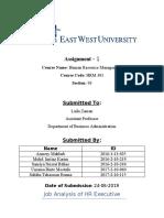 HRM 301 - Assignment 1