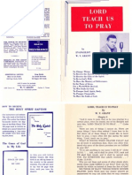 Lord Teach Us to Pray by W. V. Grant Sr.