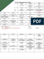 Timetable Prosto Derek dan Pei Jie