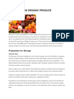 HOW TO STORE ORGANIC PRODUCE