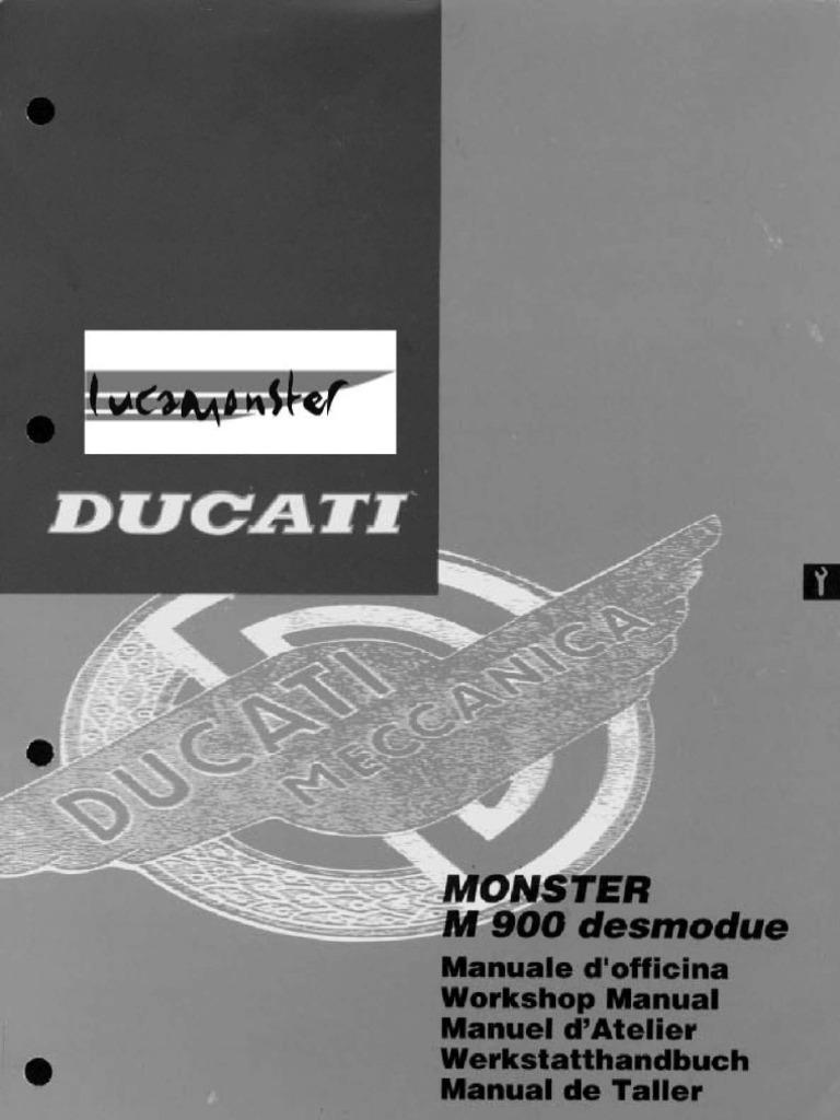 ducati monster 900 service manual rh scribd com ducati monster service manual pdf ducati monster workshop manual