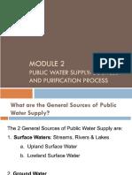 Module 2 - Public Water Supply _ Treatment Process