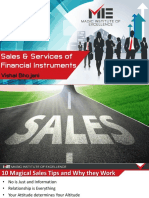 Sales and services of financial instruments E - Negotiating