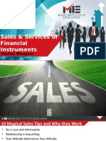 Sales and services of financial instruments F