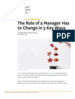 The Role of a Manager Has to Change in 5 Key Ways