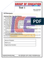 Soil Mechanics Objective Test
