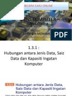 SK T4 - 1.3.1 -  Hubungan antara Jenis Data, Saiz Data dan Kapasiti Ingatan Komputer.pptx