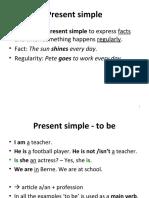 Basics 01 - Present Simple & Continuous