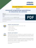 Matematica4 Semana 6 - Dia 1 Progresion Geometrica Ccesa007