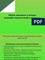 Общие принципы и методы остановки кровотечений у животных.pptx
