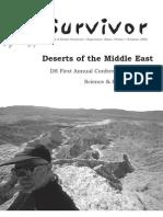 Summer 2002 The Survivior Newsletter ~ Desert Survivors