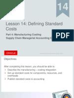 Fusion Standard Costs Setup