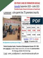 Offre de 75 Bourses Pour 3 Ans De