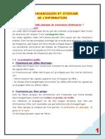 21. TRANSMISSION ET STOCKAGE DE L'INFORMATION