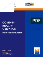 Guidance Dine in Restaurants