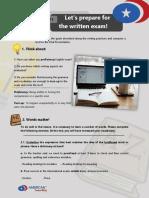 B2.2 WRITING ASSESSMENT 8 LET'S PREPARE FOR THE WRITTEN EXAM