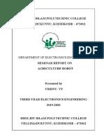 agricultural robot seminar report