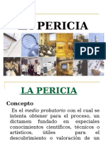 MEDIOS DE PRUEBA , LA PERICIA