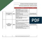 PT-003 PROTOCOLO DESINFECCIÓN Y LIMPIEZA DE EQUIPOS Y MAQUINARIA