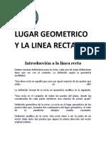 Lugar Geometrico y la Linea Recta sodds