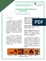 GENERACIÓN DE RESIDUOS DE MANEJO ESPECIAL EN LA CONSTRUCCIÓN