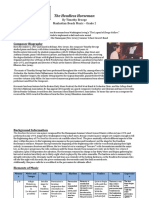 cmp analysis template - the headless horseman