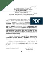 MS-009 CONSTANCIA DE CULMINACIÓN DEL SERVICIO COMUNITARIO 1