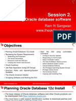 Session 2 Oracle 12c Installation