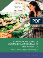 ANEXO 4 -  PLANTILLAS DE CERTIFICADO DEL OC