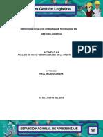 3.2 Evidencia  Análisis de caso Generalidades de la oferta y demanda OK