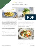 10 köstliche Kartoffelsalate mit Brühe und Mayo