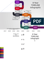 16.Create 8 Year TIMELINE Infographic