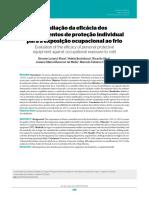 Avaliação da eficácia EPIS