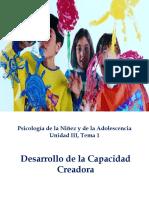 Unidad III, tema 1,Psicología de la Niñez y de la Adolescencia A