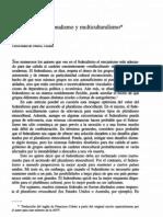 kymlicka, will - federalismo, nacionalismo y multiculturalismo