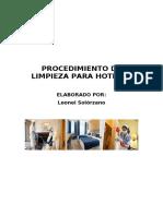 Proceso de Limpieza Para Hoteles