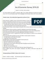 Economic Survey Report 2019-20