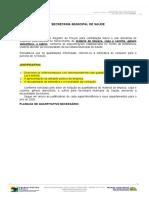 1 SOLICITAÇÃO MATERIAL DE LIMPEZA-QUANTITATIVO-SAUDE