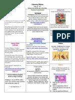 wk 6 literacy menu may 11-15th