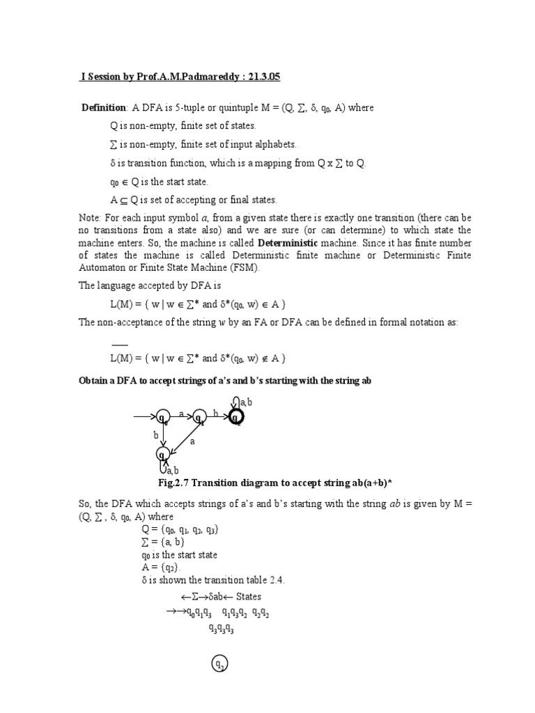 FAFL | Models Of Computation | Formal Methods